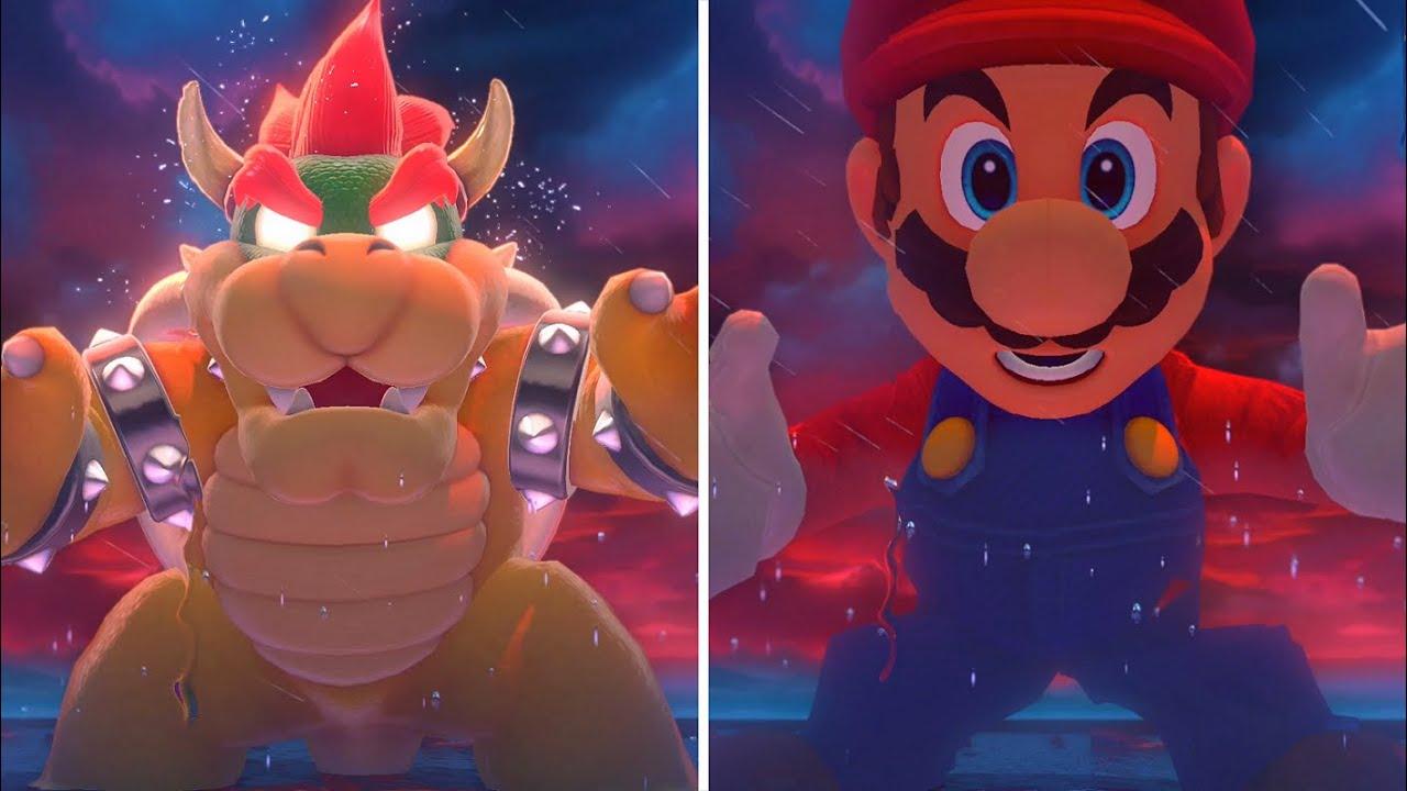 Bowser's Fury - Bowser VS Evil Mario (Comparison)