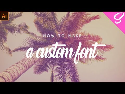 EASIEST WAY TO MAKE YOUR OWN FONT - How To Use Fontself Tutorial