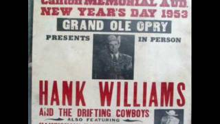 The Night Hank Williams Came to Town  by Johnny Cash YouTube Videos