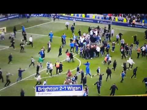 BRIGHTON PITCH INVASION AND IN PREMIER LEAGUE