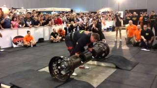 Zydrunas Savickas 229kg 504lb record log press attempt 2016 Arnold Classic Australia Strongman