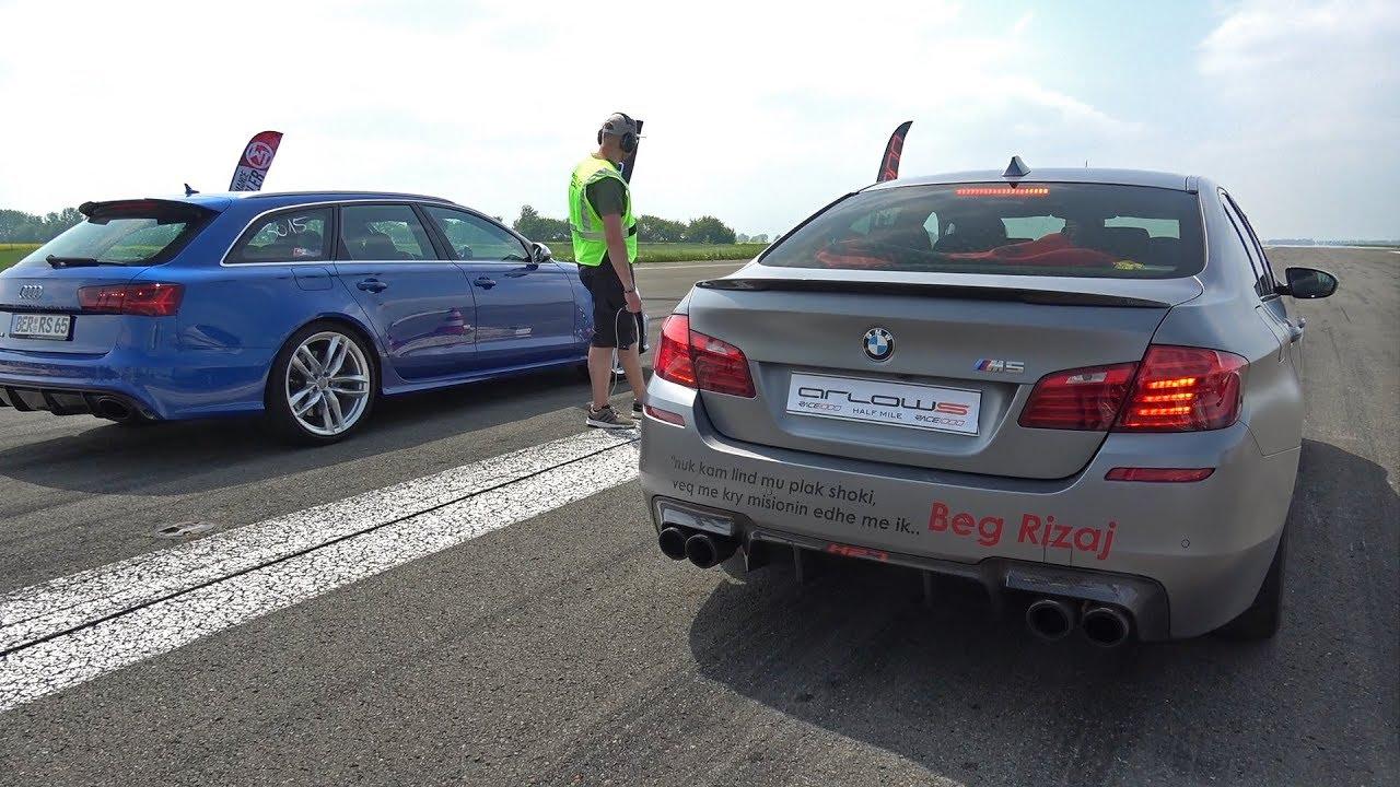 900HP BMW M5 F10 HPT vs 750HP Audi RS6 Avant