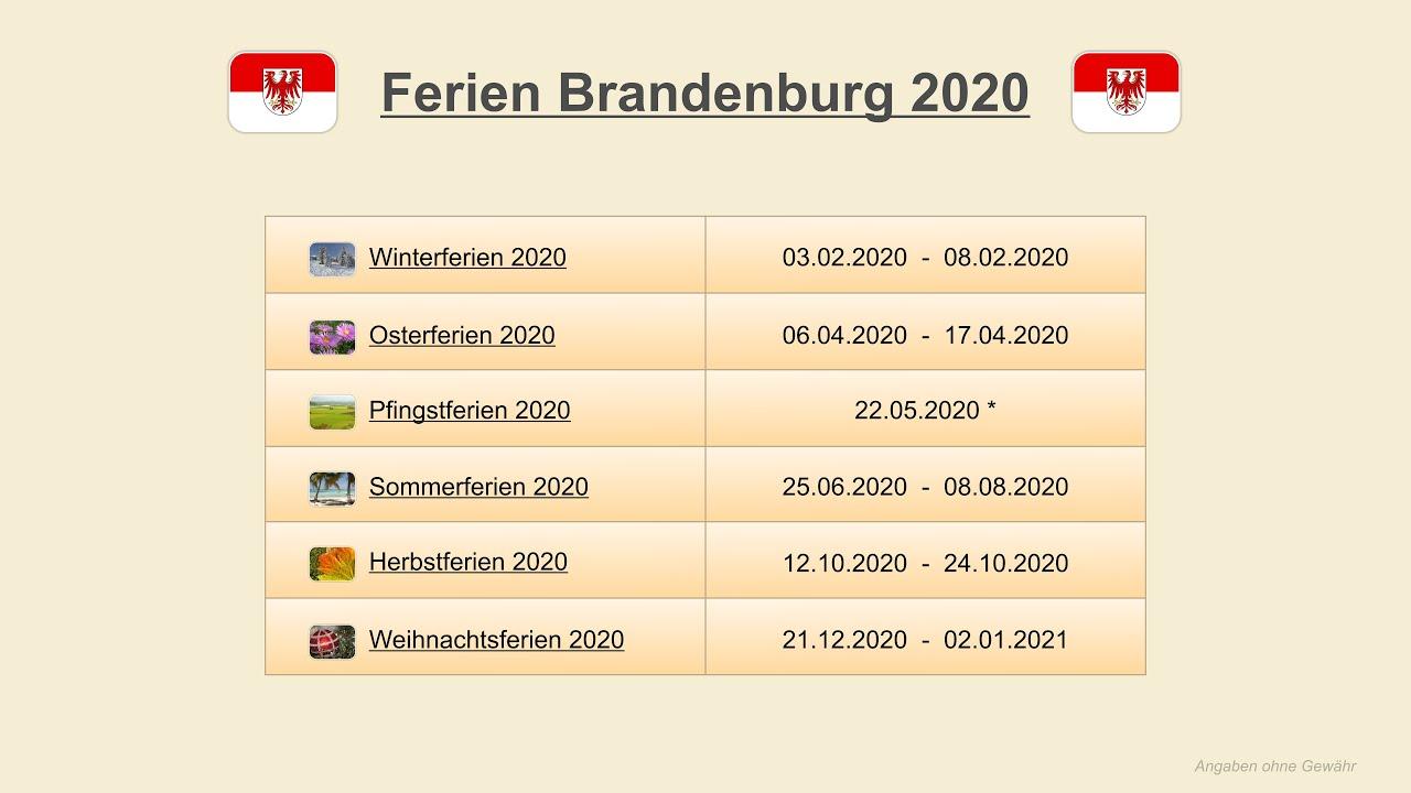 ferien brandenburg 2020