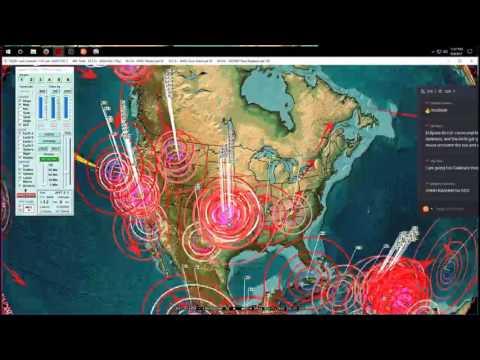 8/04/2017 -- Midwest USA / Kansas Earthquake -- Seismic pressure spreading to the East Coast - 동영상