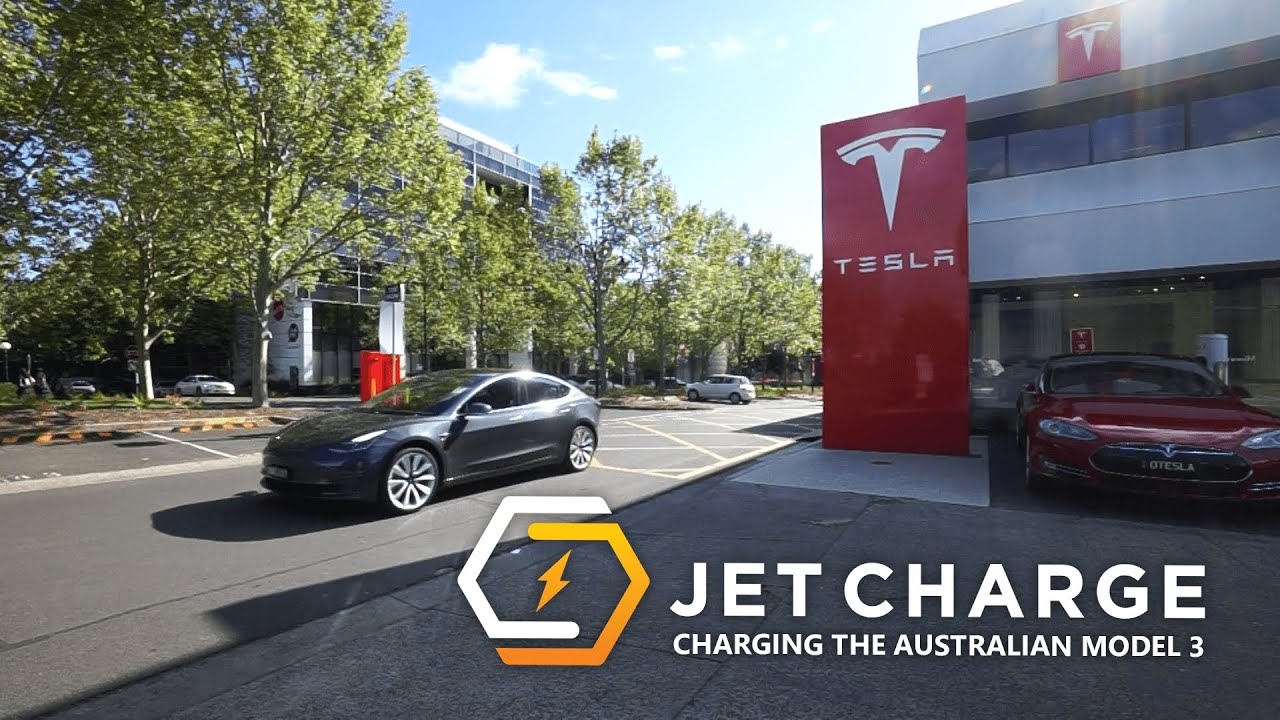 Tesla Model 3 Charging Australia   JET Charge