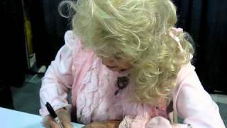 Donna Douglas aka Elly May Clampett signs autographs