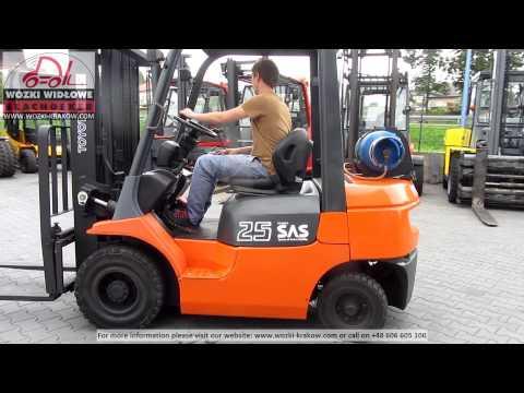 Forklift Gabelstapler погрузчик Toyota FGF 25 BD 4227G