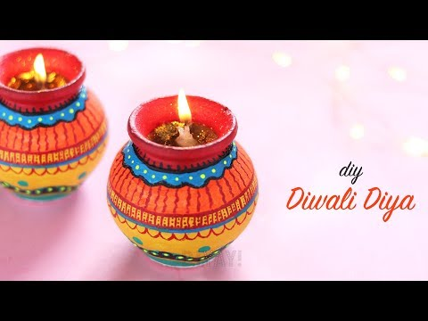 How to make Diwali Diya | Easy Pot Painting | Diwali Decoration Ideas