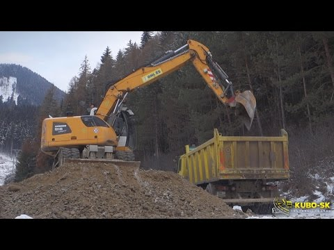 Loading Tatra Trucks With The Liebherrr A918 Wheeled Excavator