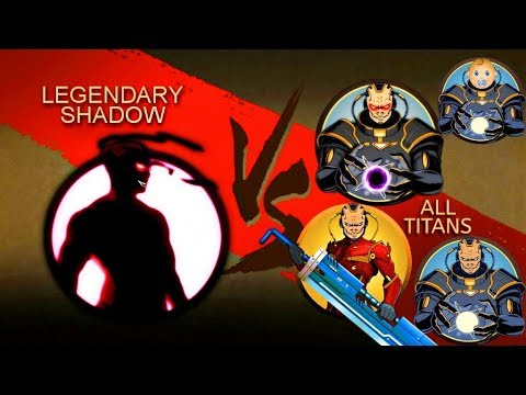 Shadow Fight 2 Legendary Shadow Vs All Titans