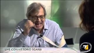 Scontro acceso tra Vittorio Sgarbi e John Peter Sloan: