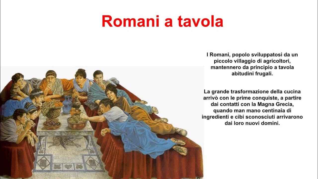 Alimentazione barbari e romani youtube for Cibi romani