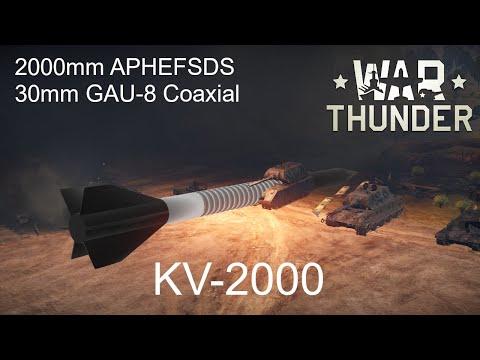 2000mm APHEFSDS + 30mm GAU-8 Coaxial // War Thunder User Model