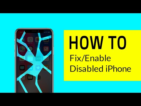 How To Fix/Enable Disabled IPhone Without Losing Data