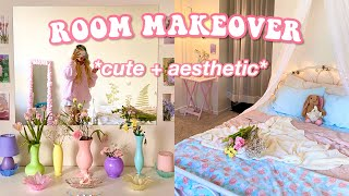 EXTREME ROOM MAKEOVER + TRANSFORMATION *aesthetic*