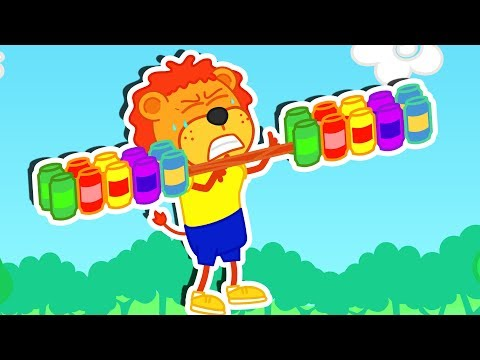 Lion Family �� Going Gym Fitness Class | Cartoon for Kids