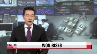 Korean won surges against U.S. dollar on Fed′s dovish stance   美 연준 비둘기파 입장에 환율