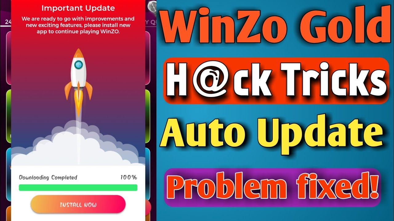 WinZo Gold Mod Version Auto Update Problem Fixed | WinZo Gold Mod Hack Tricks | TrickySK