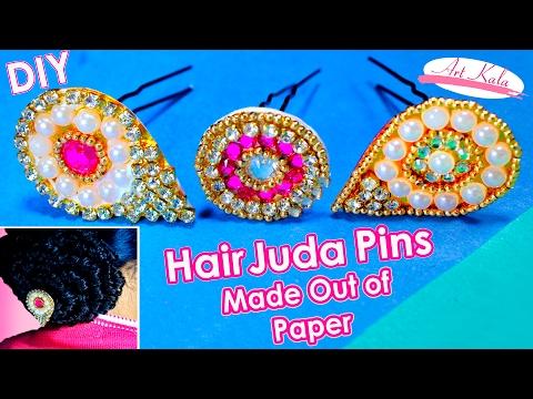 Paper juda pin/hair pins | Made up of paper | hair accessories | Artkala 105