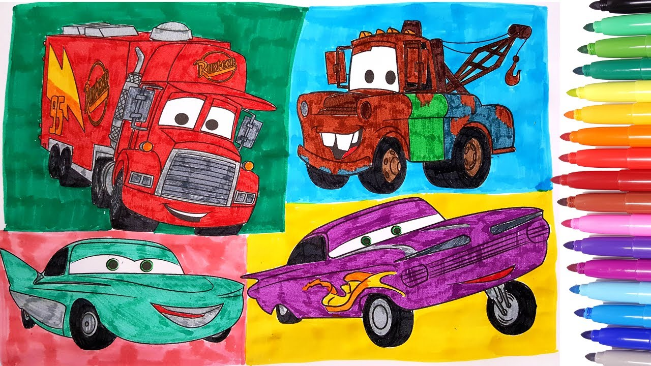 Cars 3 Coloring Pages How To Draw Color Cars Coloring Videos