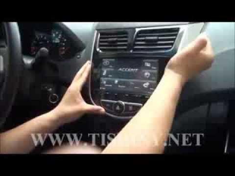 Демонтаж автомагнитолы Hyundai Solaris