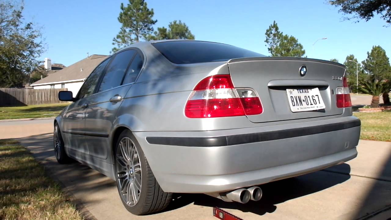 BMW E46 330i BMW Performance Muffler Exhaust Sound  YouTube