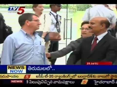 US Defence Minister Visits Hyderabad (TV5)