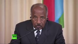 Пресс конференция глав МИД России и Эритреи