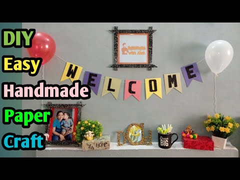welcome-diy-crafts-/-handmade-craft-ideas/-welcome-signs-hanger-ideas/-home-decor-ideas/-paper-craft