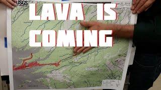 Lava moving thru lower Puna August 26 2014