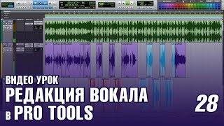 #28 Видео урок. Редакция и чистка основного вокала в Pro Tools (Как записать Хит #28)