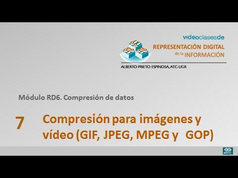 RD6.7 Compresión para imágenes y video (GIF, JPEG, MPEG y GOP).