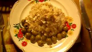 Рыбный салат с картофелем