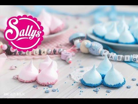 bunte Baiser-Drops / Meringue / Baby Shower Party