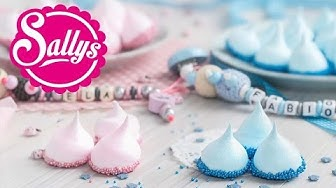 bunte Baiser-Drops / Meringue / Baby Shower Party / Sallys Welt