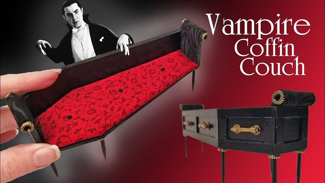 DIY Vampire Miniature Couch🦇 (Prompt #12)