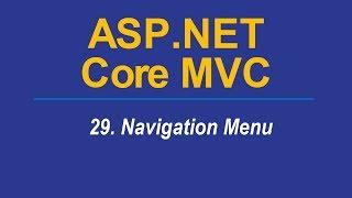 29 NAVIGATION MENU Asp Net CORE MVC