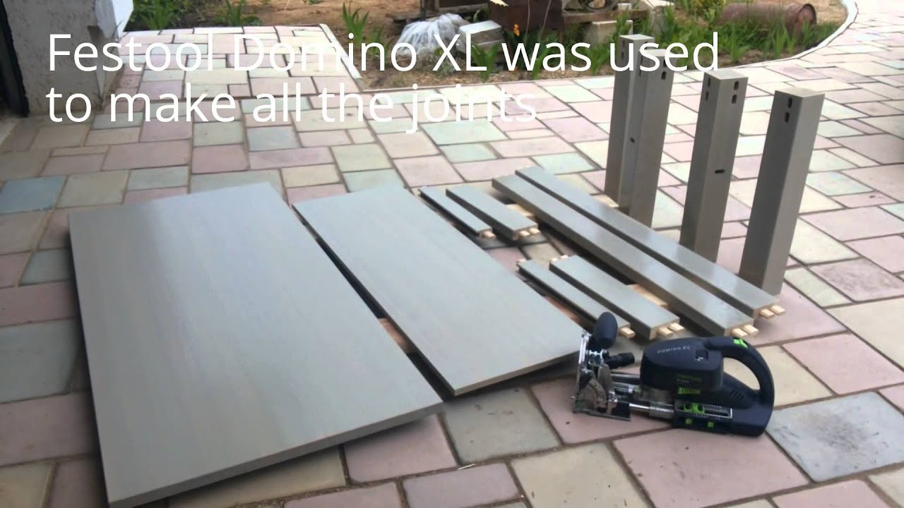 home made coffee table with Festool Domino XL - YouTube