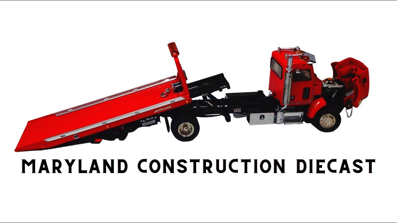 Toy Rotator Tow Truck >> 1:50 TWH Peterbilt 335 Jerr Dan Rollback Wrecker Truck - YouTube