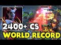 140 MIN 2400+ CS - WORLD RECORD! - EMPIRE VEGA TI7 DOTA 2