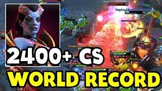 140 MIN 2400+ CS - WORLD RECORD! - EMPIRE VEGA TI7 DOTA 2