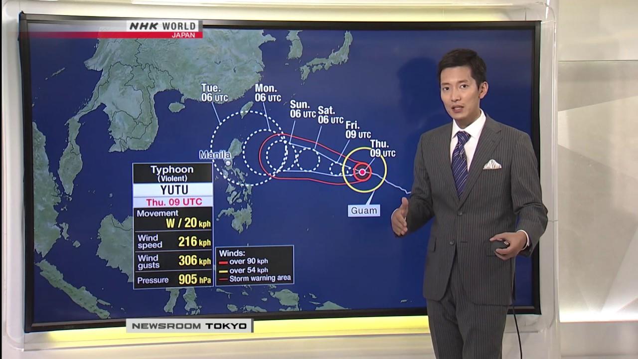 Photo of Season's 26th typhoon becomes 'super typhoon' – video