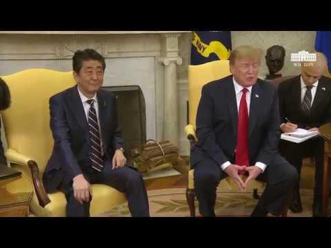 """トランプ大統領「メラニアに""""誕生会に安倍首相夫妻に出席してもらいたいか""""と尋ねたら『この夫妻ほど一緒に過ごしたいと思う人はいない』と答えた」【日米首脳会談】"""