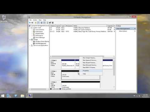Windows Server 2012r2 Create Striped, Mirrored, Raid5 And Spanned Volume