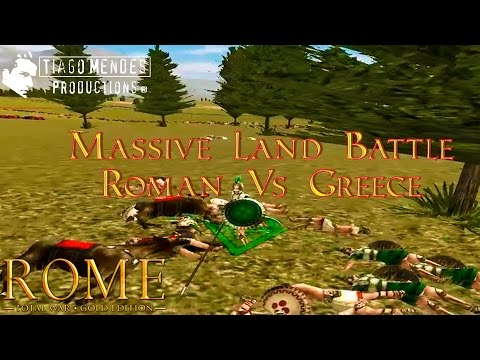 Rome 1: Total War - Massive Land Battle - Roman Vs Greece