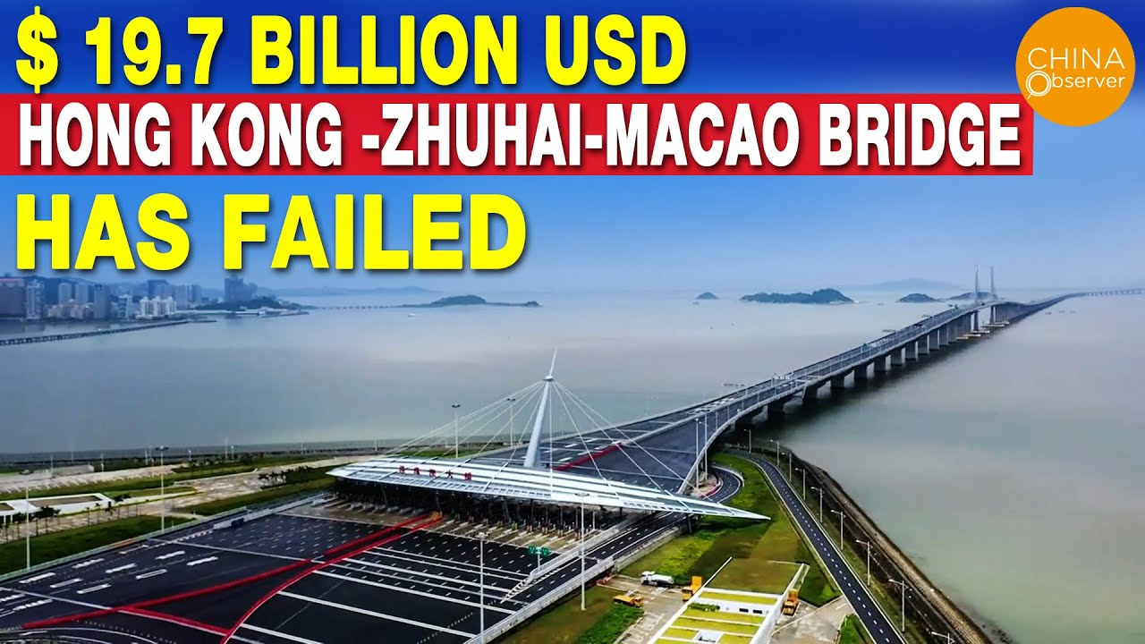 $ 19.7 Billion USD Ghost Bridge - Hong Kong -Zhuhai-Macao Bridge Has Failed   55-KM-Long