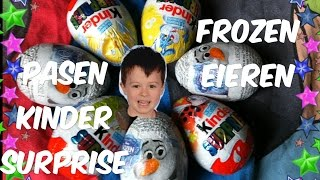 Great Kinder Surprise Eggs open: Olaf and Easter bunny surprise eggs
