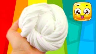 Easy Fluffy Slime Recipe Without Shaving Cream! Slime Making Tutorial DIY No Detergent!