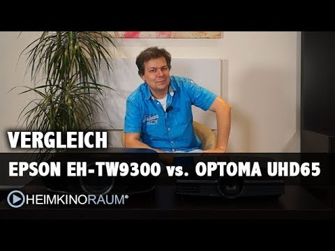 Vergleich LCD vs. DLP: Epson EH-TW9300 vs. Optoma UHD65
