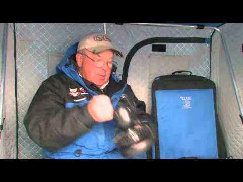 dave genz talks about clam ice fishing accessories - youtube, Reel Combo